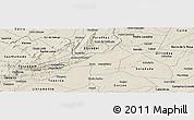 Shaded Relief Panoramic Map of Juazeirinho