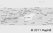 Silver Style Panoramic Map of Juazeirinho