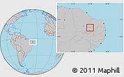 Gray Location Map of Lagoa