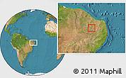 Satellite Location Map of Lagoa
