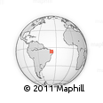 Outline Map of Lagoa