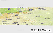 Physical Panoramic Map of Livramento