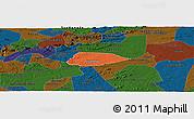 Political Panoramic Map of Livramento, darken