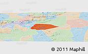 Political Panoramic Map of Livramento, lighten