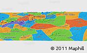 Political Panoramic Map of Livramento
