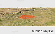 Political Panoramic Map of Livramento, satellite outside