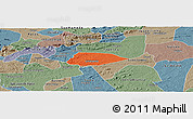 Political Panoramic Map of Livramento, semi-desaturated