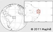 Blank Location Map of Mamanguape