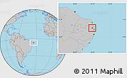 Gray Location Map of Mamanguape