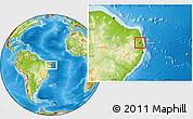 Physical Location Map of Mamanguape