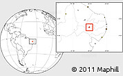 Blank Location Map of Manaira
