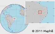 Gray Location Map of Manaira