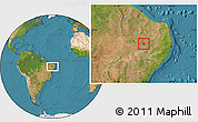 Satellite Location Map of Manaira