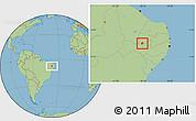 Savanna Style Location Map of Manaira