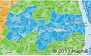 Political Shades Map of Paraiba