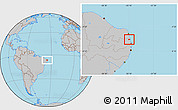 Gray Location Map of Mataraca
