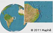 Satellite Location Map of Mataraca