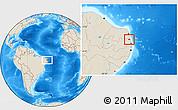 Shaded Relief Location Map of Mataraca