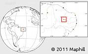 Blank Location Map of Nazarezinho