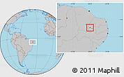 Gray Location Map of Nazarezinho