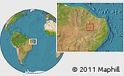 Satellite Location Map of Nazarezinho