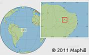 Savanna Style Location Map of Nazarezinho