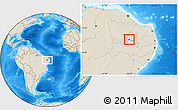 Shaded Relief Location Map of Nazarezinho