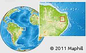 Physical Location Map of Nova Palmeira