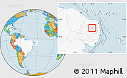 Political Location Map of Nova Palmeira, highlighted country