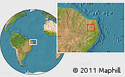 Satellite Location Map of Nova Palmeira