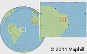 Savanna Style Location Map of Nova Palmeira