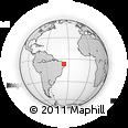 Outline Map of Nova Palmeira