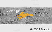 Political Panoramic Map of Olho d'Agua, desaturated
