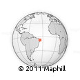 Outline Map of Pocinhos