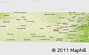 Physical Panoramic Map of Pocinhos