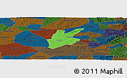 Political Panoramic Map of Pocinhos, darken