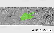Political Panoramic Map of Pocinhos, desaturated