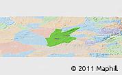 Political Panoramic Map of Pocinhos, lighten