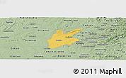 Savanna Style Panoramic Map of Pocinhos