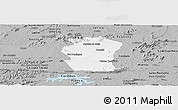 Gray Panoramic Map of Pombal