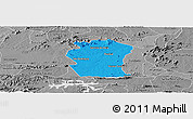 Political Panoramic Map of Pombal, desaturated