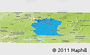 Political Panoramic Map of Pombal, physical outside