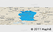 Political Panoramic Map of Pombal, shaded relief outside
