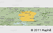 Savanna Style Panoramic Map of Pombal