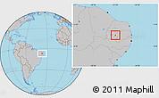 Gray Location Map of S. J. do Bonfim
