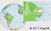 Political Location Map of S. J. do Bonfim, highlighted parent region