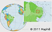 Political Location Map of S. J. do Bonfim