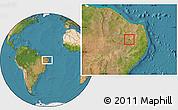 Satellite Location Map of S. J. do Bonfim