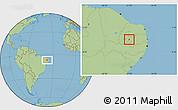 Savanna Style Location Map of S. J. do Bonfim