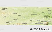 Physical Panoramic Map of S.J. do Cariri